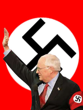 Dick returning the Nazi salute from his supporters